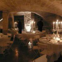 Salle voutée : dîner aux chandelles