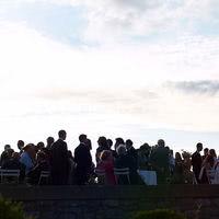 Coktail sur la grande terrasse et coucher de soleil