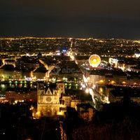 Lyon by night (vue depuis la colline de fourvière)