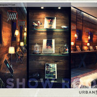 Show-room niche et étagère de présentation