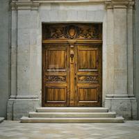 Porte cour intérieur