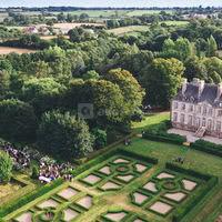 Château de Carneville - vue aérienne