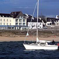 Vue de l' hôtel de la plage