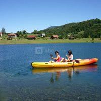 Canoé sur le lac