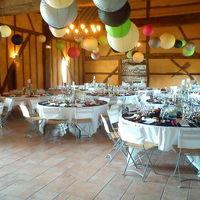 La grande salle décor multicolor