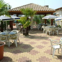 La terrasse du restaurant.