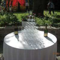 Réception de mariage au Cercle Colbert - Cascade de champagne sur la terrasse