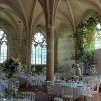 Le réfectoire décoré pour un mariage