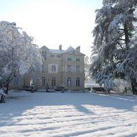 Entrée Château sous la neige