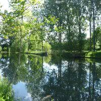 Le plan d'eau totalement sécurisé au Moulin de Follet