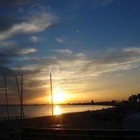 Soleil couchant sur la baie de la baule