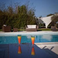 Terrasse lounge au bord de la piscine