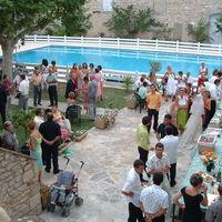 Reception au bord de la piscine