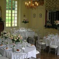 Table d'honneur et ouverture entre les salons