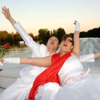 Promenade des mariés en bateau