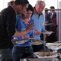 Buffet sur le bateau restaurant