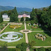 Les jardins de wesserling et son chateau.