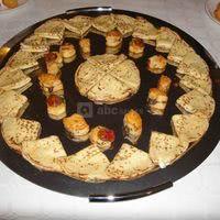 Crèpes saumon, fromage frais et ciboulette