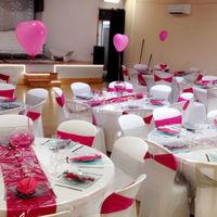 La salle Saphir décorée pour des fiançailles