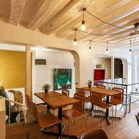 Vue du salon 3ème niveau espace coworking,restaurant