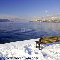 Lac du bourget paysage d'hiver