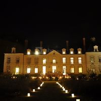 Chateau de percey candles by night / chandeleurs
