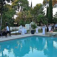 Cocktail autour de la piscine