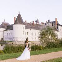 Photos de mariage devant le château