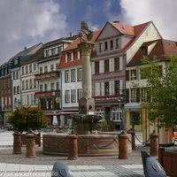 Fontaine de la place de l'hôtel de ville de molsheim