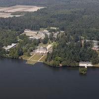 Vue aérienne du domaine de Chalès