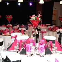 Salle palmera mariage table ronde