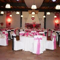 Salle palmera mariage cheminee