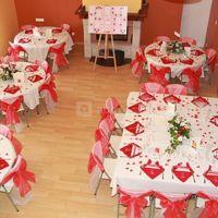 Petite salle disposition des tables