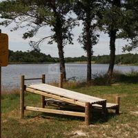 Le parcours de santé au bord de l'étang des trois frères