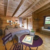 Intérieur d'une cabane