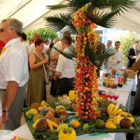 Palmier de brochettes de fruits