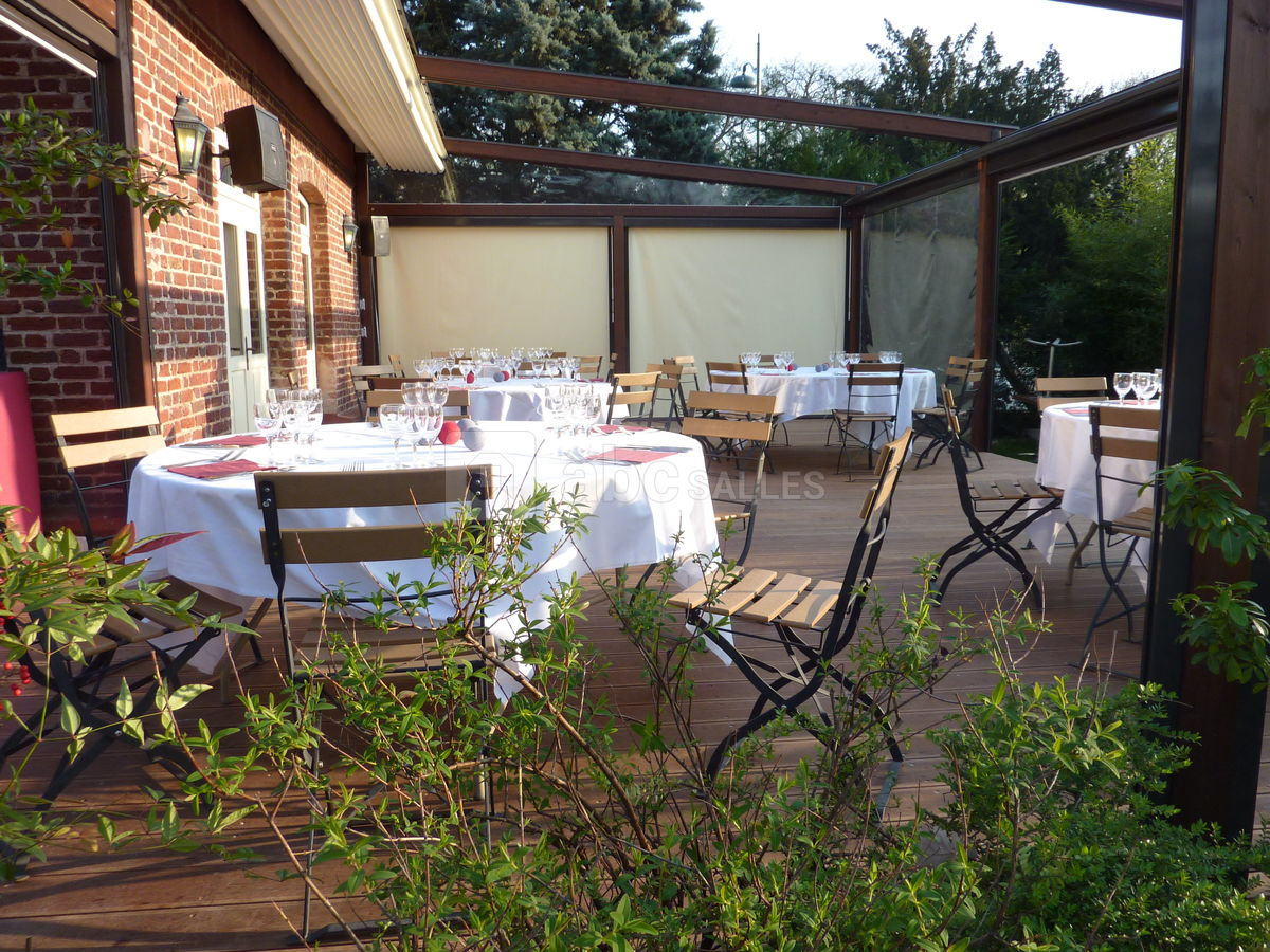 Jardin Sur Une Terrasse la terrasse du jardin - abc salles